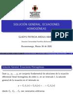 Diapositivas de ecuaciones homogéneas y reducción de orden