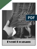 2011 Woman's Club of Ephrata Dinner Dance & Auction Event Program