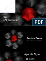 Stand Out Red Umbrella PowerPoint Templates