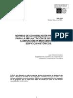 Herráez, J.A. Normas sistemas iluminación monumentos. 2005