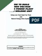 Build a High Voltage Home Power Welder