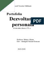 Dezvoltarea personală-portofolui 2018