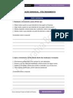 Avaliação Gerencial - Pós Treinamento - Formulário