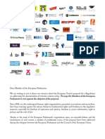 civil society organisations say no to online Terrorism Regulation