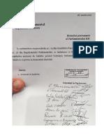 Declaratia privind dezacordul dizolvarii Parlamentului