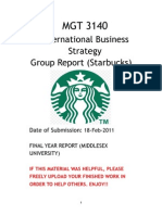 Analysis of Starbucks and its International Strategy (2011)