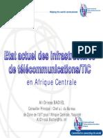 Etat actuel des infrastructures Afrique Centrale