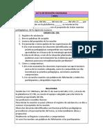 Acta Con Acuerdos - Productos