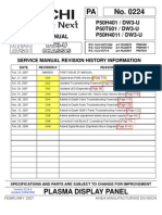 Hitachi P50H401 Service Manual