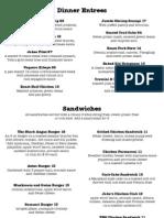 Jakes menu