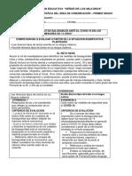 Evaluación Diagnostica Comunicación Primer Grado Prof Verónica PDF