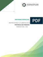 Informe Especial Formosa 2021