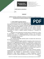 Raportul Inspecției Judiciare privind rezultatul verificărilor referitoare la îndeplinirea condiției de bună reputație pentru Camelia Bogdan