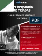 Plan de Técnica Triadas Armónico - Guitarra - Armando Alonso - Gratis