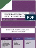 Insersi & perawatan GTSL - PROSTHO