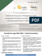 Apresentação Da 1ª Revisão Quadrimestral Carga PLAN 2021-2025