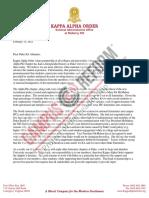 Duke Alumni Letter