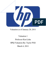 HPQ Valuation