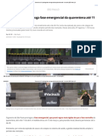 Governo de SP Prorroga Fase Emergencial Da Quarentena Até 11 de Abril _ São Paulo _ G1