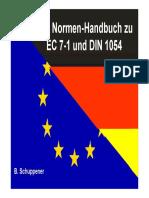 Normenhandbuch Zu EC 7-1 Und DIN 1054 - TUB