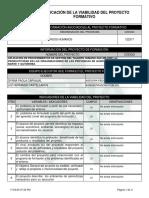 Reporte Viabilidad Proyecto de Aprendizaje - 1332411 - APLICACIÓN DE PROCEDIMIENTOS D