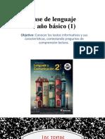 CLASE DE LENGUAJE 3° BASICO 1