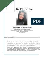 Hoja de Vida Jenny Paola Lizcano