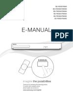 Manual 408180 Samsung Bd f8500 3d Blu Ray Player Hdd Recorder 500 Gb Dvb c Twin Hd Tuner Smart Tv Wi Fi Black