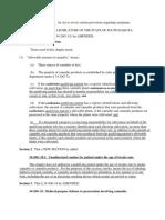 Draft Legislation for Medical Marijuana