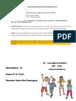 1.- Instrucciones Semana 1_ Del 8 Al 12 de Marzo Del 2021, Cuadernillo de Las Emociones Tercero