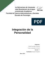 Integración de la Personalidad