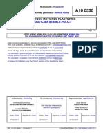 A10 0530 (rev. F; 2017.06) EN - PLASTIC MATERIALS POLICY