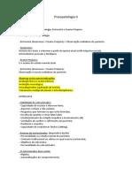 Psicopatologia II - Compilado dos slides