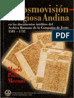 Polia, Mario - La Cosmovisión Religiosa Andina en Los Documentos Del Archivo Romano de La Compañía de Jesús