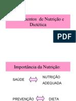 Fundamentos  de Nutrição e Dietética
