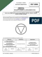 r37 5000 (Rev. b; 2015.06) Fr - Habitacle Garnissage Pieces Et Composants Soumis a La Reglementation