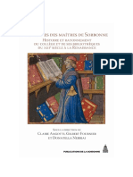 Les livres des maîtres de Sorbonne – Histoire et rayonnement du collège et de ses Bibliothèques du XIIIe siècle à la Re