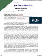 Albert Einstein - Por Que Socialismo