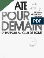 CLUB DE ROME :