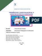 FUNDAMENTACION DEL AREA DE PRACTICA E INVESTIGACION I UCV