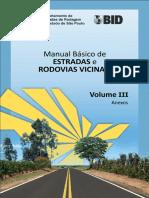 Manual Basico de Estradas e Rodovias Vicinais - Volume III - Anexos