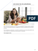Os 44 Alimentos Com Menor Teor de Carboidratos