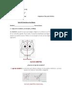 Guía N°2 Simetria Educación Artistica Tercero basico