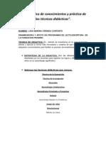 Diagnóstico de conocimientos y práctica de las técnicas didácticas (2)
