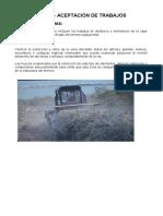 TERRAPLENES - ACEPTACION DE TRABAJOS