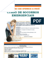 FOLDER SOCORROS EMERGENCIAIS ATHENAS SESC 2011