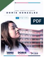 Programa Constituyente Doris Gonzalez 2021