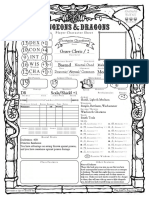 Old School 5E D&D Character and Spell sheet (Form)