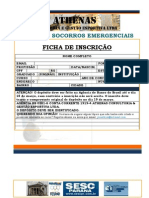 FICHA DE INSCRIÇÃO CURSO DE SOCORROS EMERGENCIAIS ATHENAS SESC 2011 pdf