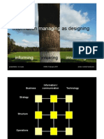 Information managing as designing